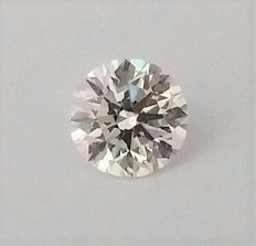0.72 Carat - E color - VS2 clarity - Loose Round Brilliant Cut Diamond  - IGL certified - Laser Inscripted - Original Image