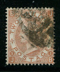 Great-Britain 1867/80 – Queen Victoria – 2 shilling brown Stanley Gibbons 121
