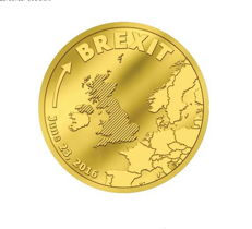 Cook Islands - $5 - gold / gold coin - Brexit 23 June withdrawal of Britain from the EU - polished plate - Edition of only 10,000 pieces