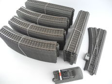 Märklin H0 - 24188/-172/-977/-611/74490/among others - 52-piece collection C-rail with electric switch and buffer block [841]