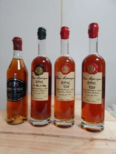 4 bottles of Armagnac : 1 Delord 25 Years of Age, 2 Delord VSOP & 1 Les Vignerons d'Armagnac ***