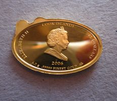 Cook Islands – 25 Dollars 2006 'Visit of the Pope to Bavaria' – 4 gr. gold.