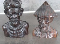 Two male busts - Niana Tilem Gallery - Bali - Indonesia