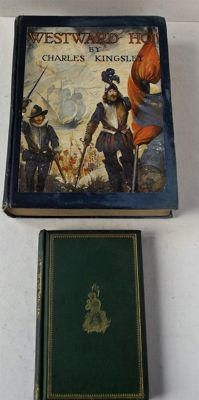 Lot with 2 books - The Wreck of the Osprey & Westward Ho! - 1867/1920