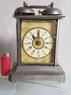 Officer's travel clock - Monogrammed - First half of 20th century