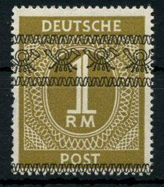 Allied occupation - 1948 . Numeral serie with overprint volume 1 RM, Micjel No.  AIX/I , with certificate Schlegel BPP