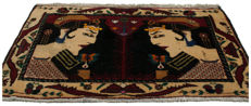 3444 authentic Persian rug, original, hand-knotted (105 x 54 cm) with certificate of authenticity from official expert – Galleria Farah 1970