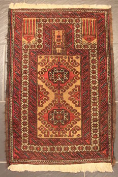 Hand-knotted Persian collector's carpet, Belutsch, rug, made in Afghanistan 90X120cm