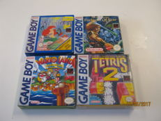 4 Original gameboy games all boxed. - Little Mermaid,Fortres of fear,Wario Land,Tetris 2