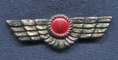 Breast and cap badge. Air Force. First version. Without star and crown. Nationalist Army. Spanish Civil War. 51 mm.