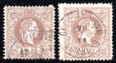 "Austria –  1867 – ""Emperor Franz Joseph""  with a comprehensive special collection with over 300 stamps and letter ex. Michel 35-41"