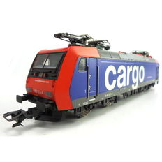 Trix H0 - From set 21500 - Electric locomotive Series BR 185/Re482 of the SBB Cargo, with 4 Pantographs