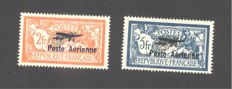 France 1927 – air post signed Calves – Yvert PA No. 1 and 2