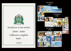 San Marino, 2000-2009, Surface Mail Complete Collection