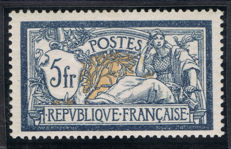 France 1900 - Merson 5 fr blue and chamois - Yvert 123 - Signed Calves
