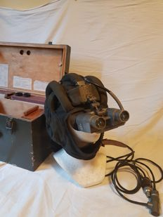 Polish made version of Soviet Army PNW-57a Tank Helmet With Infrared Goggles