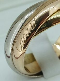 Cartier - 'Trinity' alliance ring in three golds of 18 kt - Size 55.