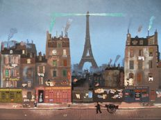 Michel Delacroix - Paris : La Tour Eiffel & Saint Germain des Prés