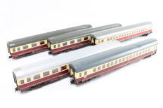 Fleischmann H0 -  5161K/5163/5164K/5168K - 5 pieces TEE carriages of the DB