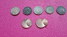 U.S.A. - Lot of 7 unusual and misstrike coins