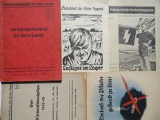 Hitlerjugend; Lot with 5 propaganda publications for the youth - 1939/1942