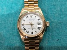 Rolex Oyster Perpetual Datejust – 18 kt gold – Women's vintage watch – 70s