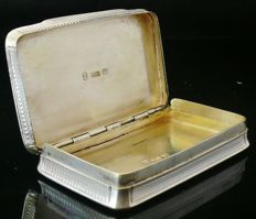 Antique Silver Snuff Box, Birmingham 1822, Corfield & Co (Richard Corfield & Joseph Patrick)
