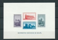 Spain 1938 – Sheet of imperforate stamps, tribute to the army and navy – Edifil nº850