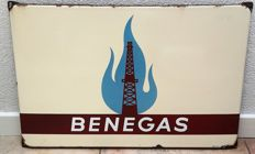Heavy enamel sign - Benegas - year unknown