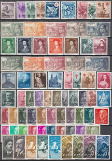 Spain 1950/57 – Selection of complete series
