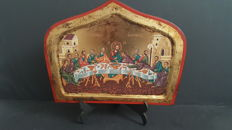 Holy Icon , copy of authentic Byzantine art, Lithography,Worked out by experienced craftsmen, on Wood, With sheets of Gold