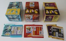 Panini - World Cup 2006 Germany + WC 2010 South Africa and Euro 2012 Poland / Ukraine - 3 boxes + 6 extra packets - Factory seal