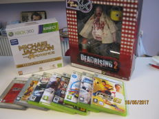 Lot van 10 X-box 360 games, 2 are Collectors editions. Deadrising 2,Michael Jackson experience,etc