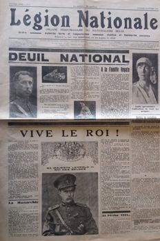 Nationalism; Légion Nationale - 62 newspapers - 1934 / 1935