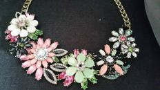 Joan Rivers - statement large flower necklace