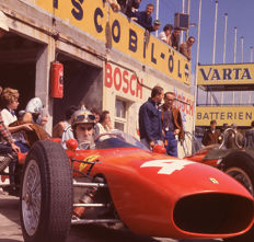lorenzo Bandini in a Ferrari pits  Colour Photograph