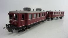 Trix Express H0 - 2280 - Diesel motor carriage BR VT 75 with trailer VB140 of the DB