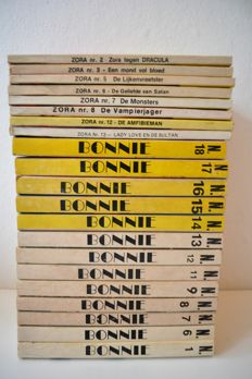Cult; lot with 21 comic pockets of Bonnie and Zora - 1976/1978