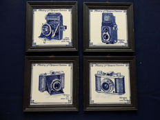 4 Tiles of History of Olympus Cameras
