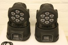 Set LED wash moving heads RGB+W 7x10W