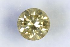 Diamant  0.36 ct - SI2 - Fancy Grayish Yellow