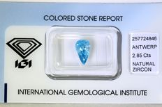 Blue Zircon – 2.85 ct