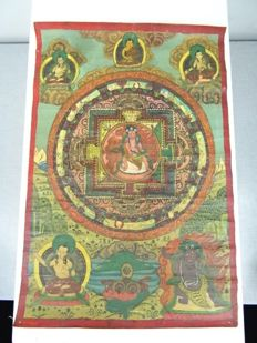 Thangka of a wrathful magician - Nepal - Mid 20th century