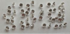 Lot of fifty brilliant cut diamonds, 5.00 ct in total, G (clear white), VS (high clarity).