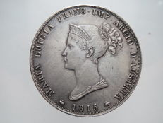 Duchy of Parma – 5 Lire coin, 1815 – Marie Louise – Silver