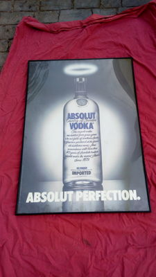 Large advertising sign of Absolut Vodka