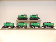 Roco H0 - from starter set 51290 - 2-axle coil wagons of the DB - Lot of 6
