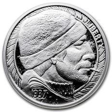USA - 1 oz 999 Feinsilber USA The Fisherman - Hobo Nickels Serie 1937 - Silber Proof Like - mit Zertifikat