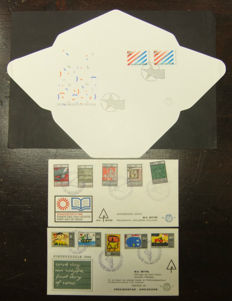 The Netherlands 1965/1982 - Selection of 2 privately printed FDCs and a so-called broadsheet