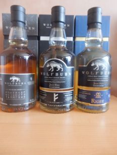 3 bottles - Wolf burn Rigby - Wolfburn Kyler first and second edition